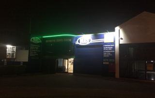 Lighting up a shopfront for passing night traffic had a dramatic impact at this business