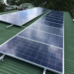The final touches a 5 kilowatt solar power install