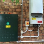 The inverter installed and ready for commissioning