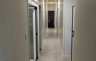 Hallway with energy efficient LED lighting